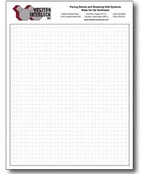 4x4 Math Graph Paper Letter Personalized Graph Paper Pads