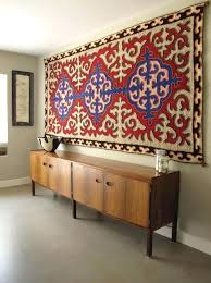 wall rug hanging modern interior with tapestry on
