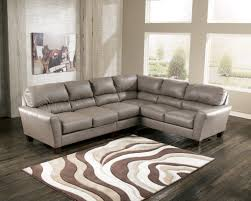 image of gray leather sectional sofas