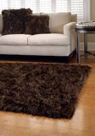flooring dark brown small size furry rug brown fur rug dark brown fur area rug
