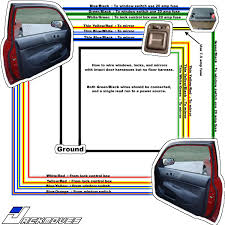 window switch wiring schematic diy power windows in a 96 00 civic dx 6 pin window switch wiring diagram wiring