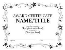 Printable Awards Templates Free Printable Award Certificate Template Bing Images