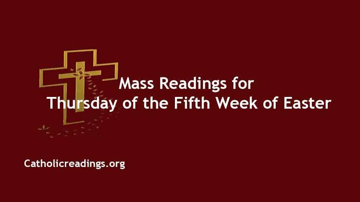 Catholic Thursday 6 May 2021 Daily Mass Reading Online