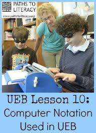 Ebae Braille Chart Ueb Lesson 10 Computer Notation Used In Ueb Paths To Literacy