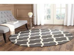 cambridge dark gray ivory 6 ft x 6 ft round area rug for 4 ft round