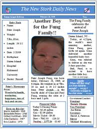 Baby Newspaper Birth Announcements Video Tutorials And