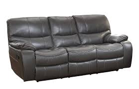 com homelegance pecos leather gel manual double reclining sofa gray kitchen dining