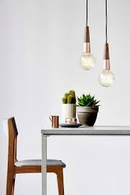 scandinavian lighting. This Bare Bulb Hanging Light Comes With A Base Of Oiled Walnut And Copper. Scandinavian Lighting