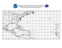 Hurricane Tracking Chart Atlantic Hurricane Tracking Chart