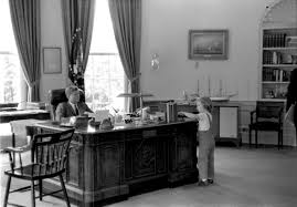 john f kennedy oval office. Caroline Kennedy Visits Her Father In The Oval Office John F