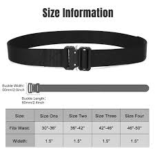 Riggers Belt Size Chart Tactical Nylon Belt Military Style Webbing Riggers Belt Buckle Quick Release