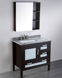 boscow 37 inch contemporary single sink vanity dark espresso finish