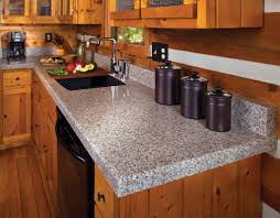 Countertops, Replacing Kitchen Countertops Replacing Countertops With  Granite Grey Granite Counterop With Oak Kitchen Cabinet ...