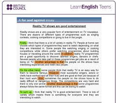 "writing  ""opinion"" and ""for and against"" essays   english allcaptura de pantalla      a la s"