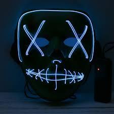 Light Up Mask Best Adults Halloween Led Light Up Mask Halloween Costume Sale Online Shopping Blue Cafago Com