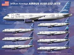 Airplane Size Chart Jetblue Jet Blue Airways Airlines Information History