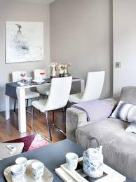 Interior Small Living Room And Dining Room Space Featuring Beige
