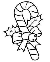 Christmas Candy Cane Coloring Pages Free Canes Page Christmas Candy