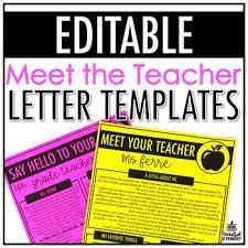 Letter Templates For Teachers Meet The Teacher Letter Templates Editable