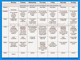 Meal Plan Spreadsheet Geocvc Co