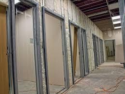 install a welded metal door frame
