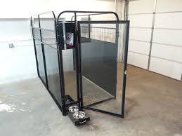 tempered glass kennel doors