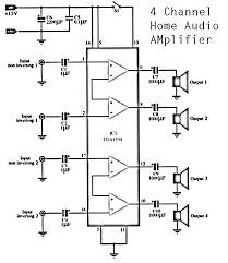 home amplifier wiring diagram home image wiring 4 channel amp wiring diagram 4 auto wiring diagram schematic on home amplifier wiring diagram