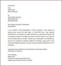 Sample Scholarship Request Letters Sample Scholarship Request Letter Kairo 9terrains Co Requesting For