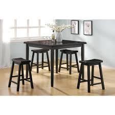 5 Piece Bar Table Set Acme Gaucho 5 Piece Black Bar Table Set 07288 The Home Depot