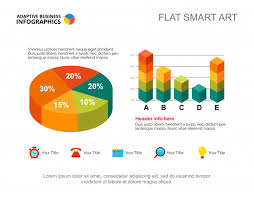 Business Infographics With Pie Chart And Bar Graph Editable