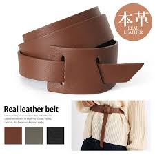 real leather buckleless belt the rial leather belt which becomes the atmosphere that is soft as there is not a buckle