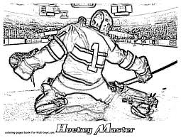 Small Picture Hockey Coloring Pages Hat Trick Hockey Coloring Sheets Free Hockey