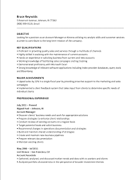 Free Account Manager Resume Template Sample Ms Word
