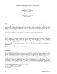 pdf the determinants of munil expenditures in ontario