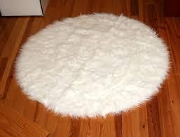 white faux fur carpet sheepskin animal pelt rugs large black rug interior