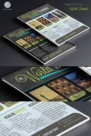 print ad templates free print ad template psd world traveler on behance