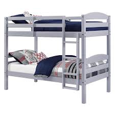 better homes gardens leighton twin over twin wood bunk bed