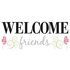 pink welcome welcome friends wall sticker quotes by roommates roommates peel