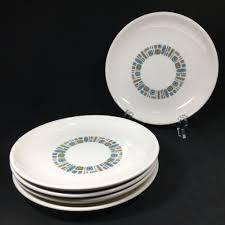 Modern Design Plates Details About Vtg 1960 Canonsburg Pottery Temporama Atomic