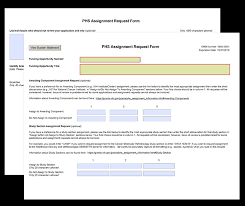 Requisition Form In Pdf Interesting G48 PHS Assignment Request Form
