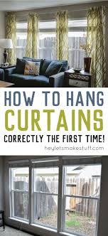 Thursday\u0027s Tips \u0026 Tricks: How to Hang Curtains | Hang curtains ...