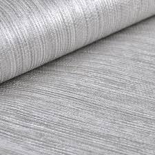 metallic silver faux grasscloth