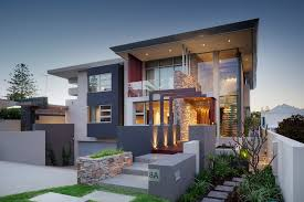 view modern house lights. Modern House Facades For Two Story Homes View Lights R