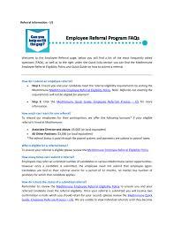 Medimmune Employee Referral Program Faqs