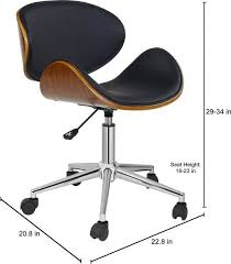 porthos home rylan office chair a classy executive office chair with 5 easy glide caster wheels height adjule 360 degree swivel fabulous home office
