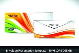 Envelope Presentation Template Design Vector Envelope Design