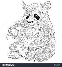 Small Picture Panda Floral Design Qandjco
