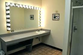 makeup mirror lighting. Wall Mirrors: Mirror With Light Bulbs For Bathroom Mirrors Lighting Over Makeup