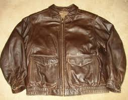 sonoma jean co thick brown leather a 2 er jacket sz mens lg nice