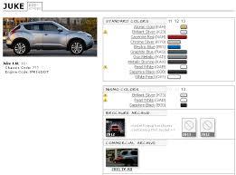 Nissan Juke Touchup Paint Codes Image Galleries Brochure